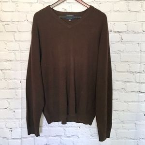 Club Room Brown Cashmere Sweater L